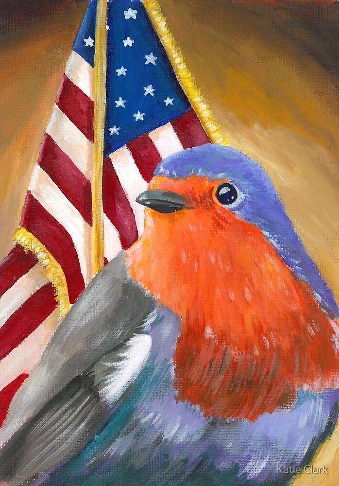 Bird for President! Birdie Sanders by Katie Clark