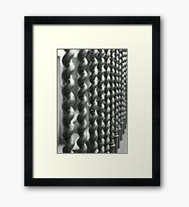 Broughton Street spiral railings Framed Print