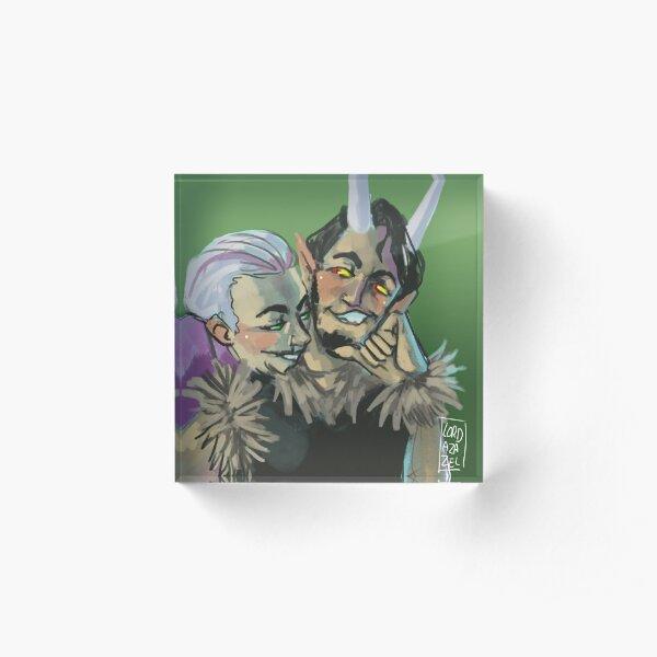 Devil dice Acrylic Block