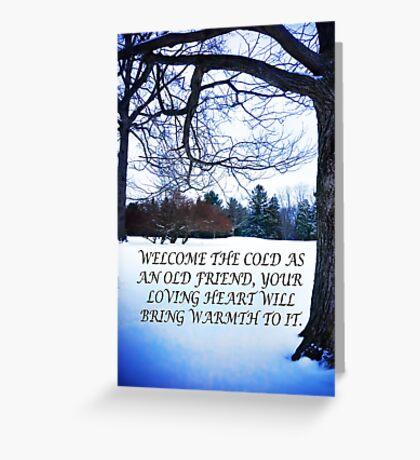 Blue Winter Inspirational Greeting Card