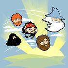 Celebrity Angered Beards by Jerry Bennett