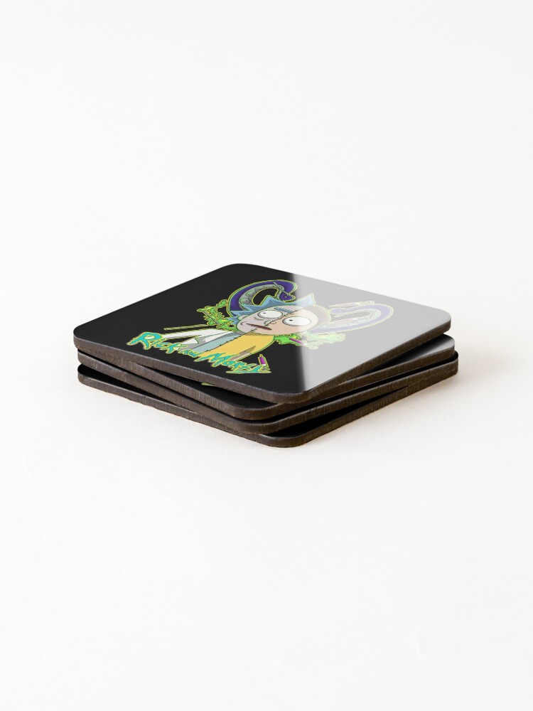 Alternate view of rick and morty Coasters (Set of 4)
