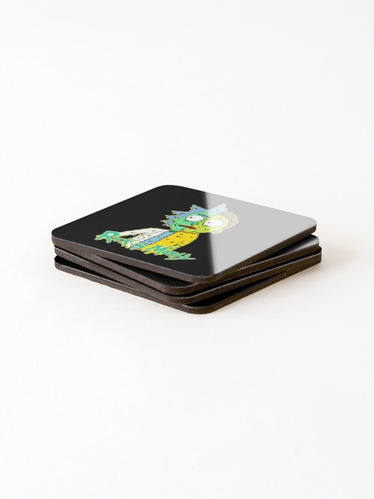 Alternate view of rick and morty melted Coasters (Set of 4)
