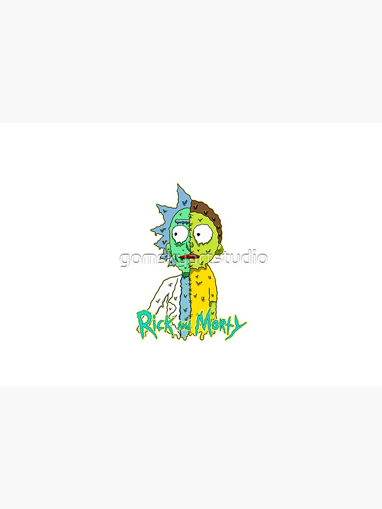 rick and morty melted by gomskyartstudio