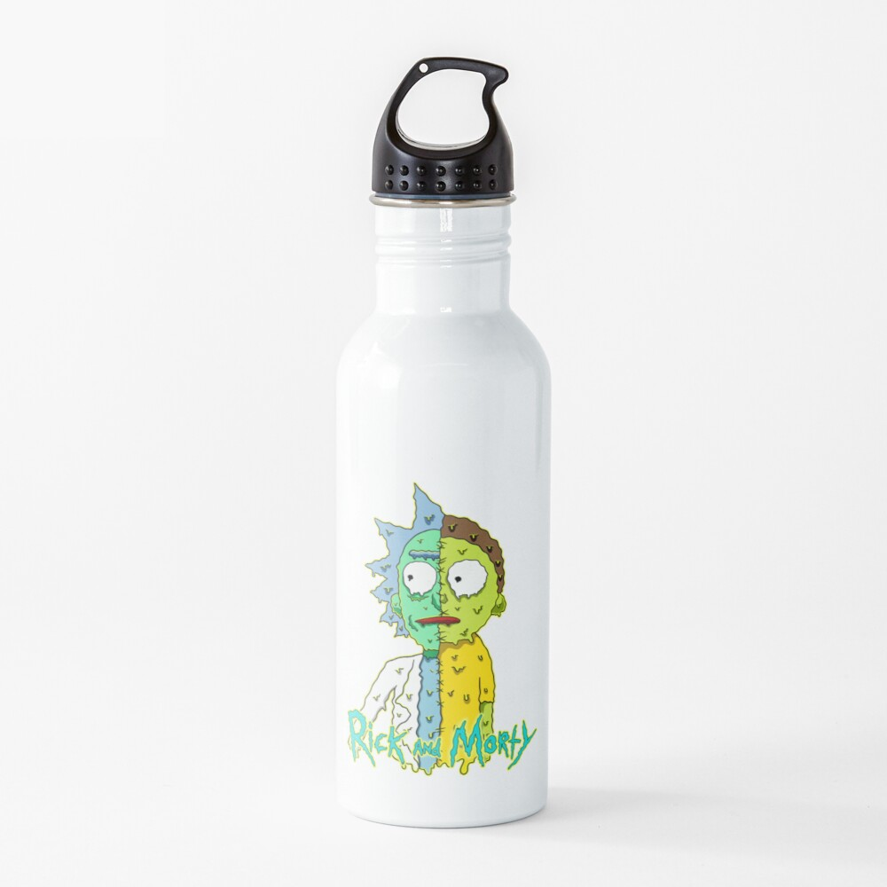 rick and morty melted Water Bottle