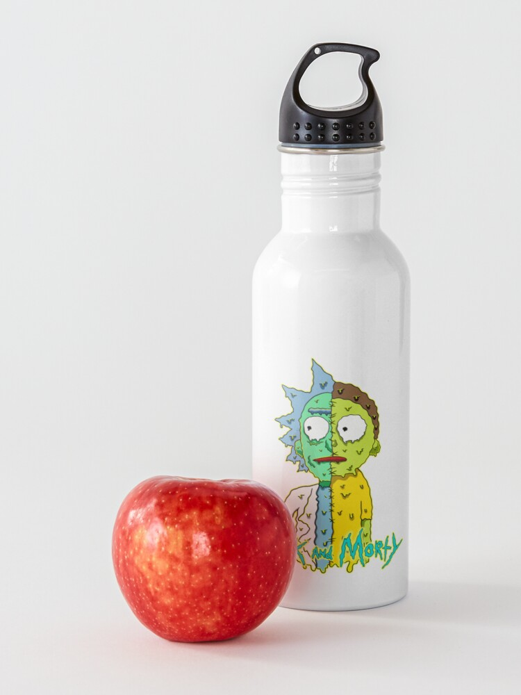 Alternate view of rick and morty melted Water Bottle