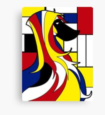 Mondrian dog Canvas Print