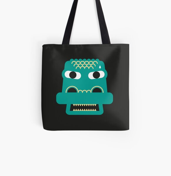 Angry Croc All Over Print Tote Bag