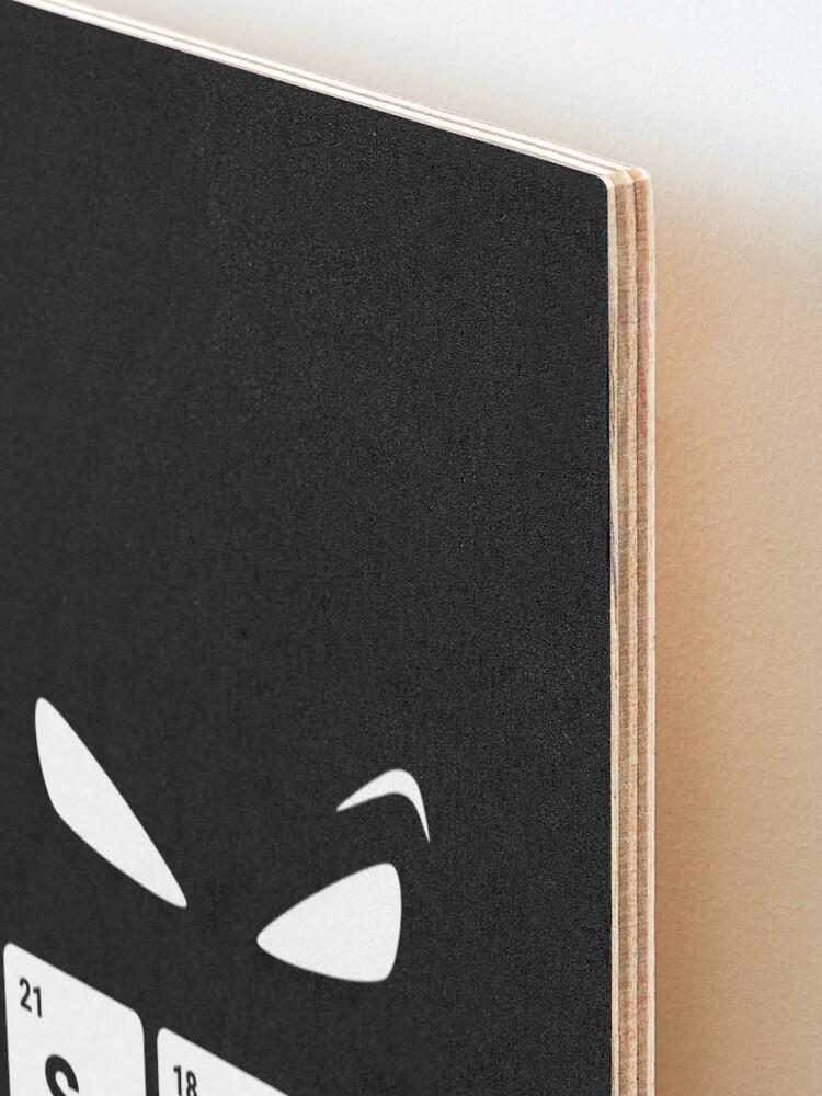 Alternate view of Scary! Halloween Eyes Periodic Table Elements Scandium Argon Yttrium Mounted Print