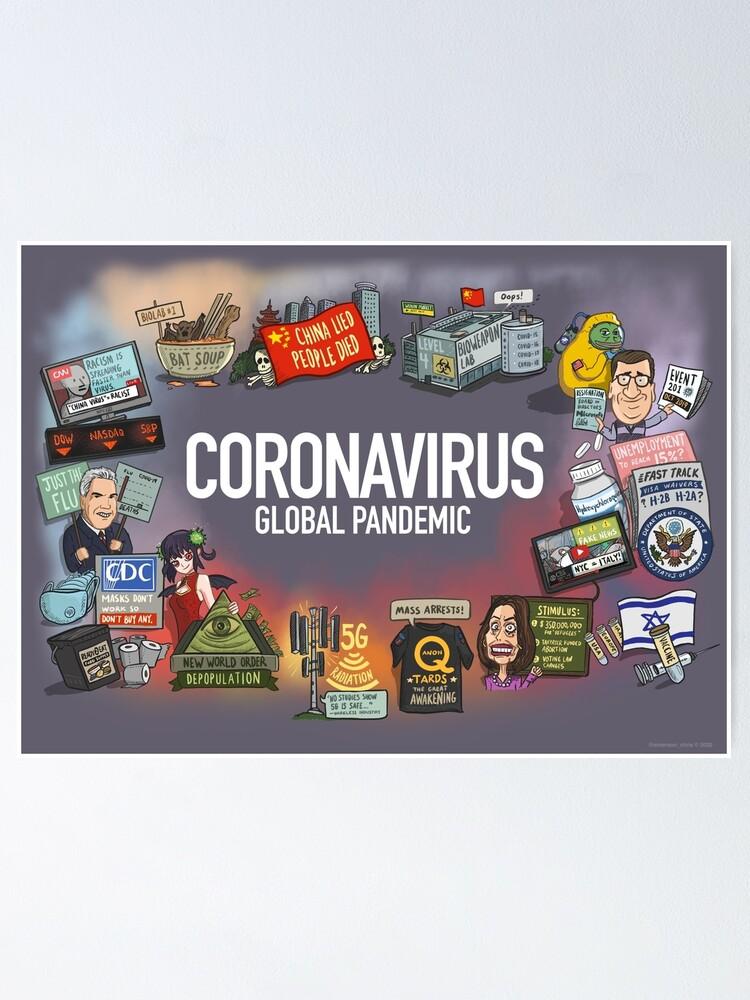 Alternate view of Coronavirus Global Pandemic Poster
