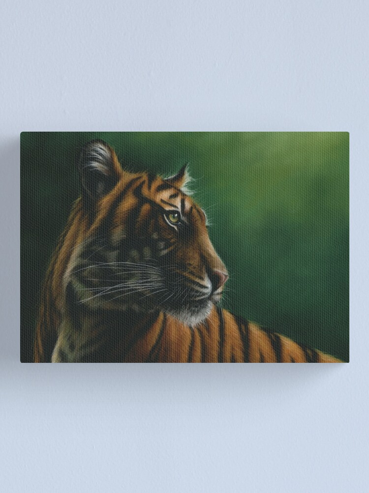 Alternate view of Wildlife Painting of a Tiger Canvas Print