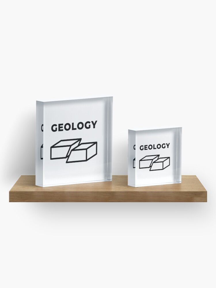 Alternate view of Geology (Inverted) Acrylic Block