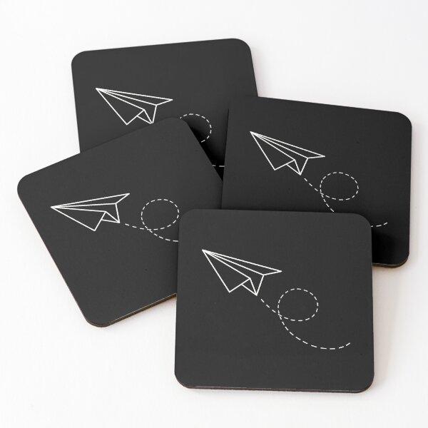 Paper plane Coasters (Set of 4)