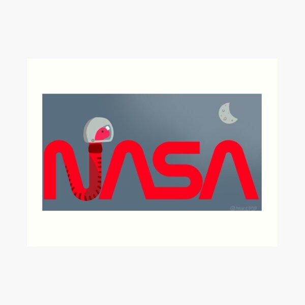 NASA - The Worm Returns Art Print