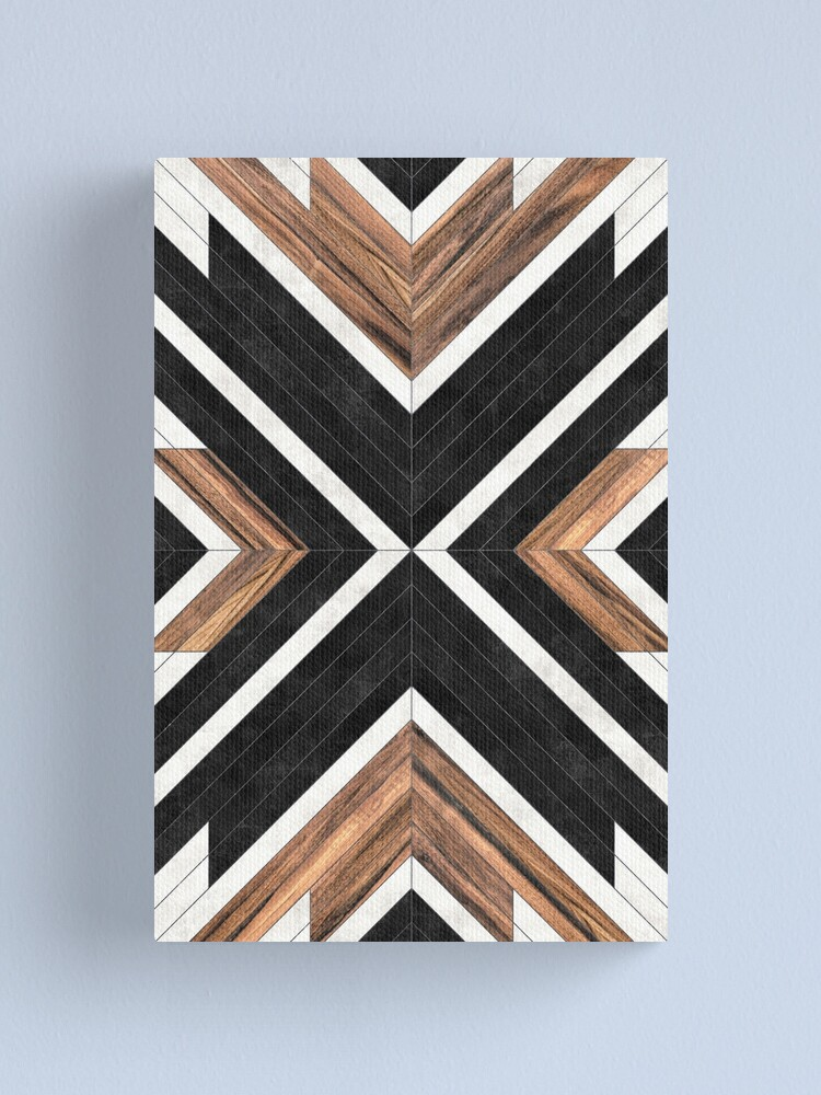 Alternate view of Urban Tribal Pattern No.1 - Concrete and Wood Canvas Print