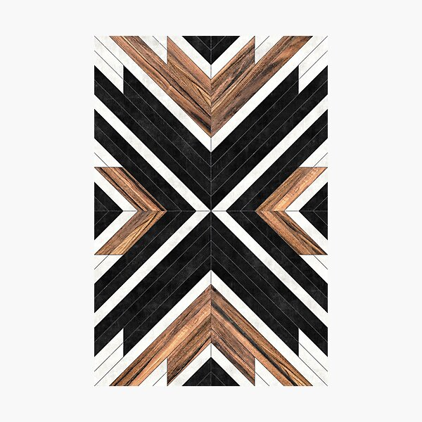 Urban Tribal Pattern No.1 - Concrete and Wood Photographic Print