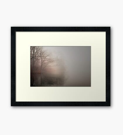 Pond in Winter Framed Print