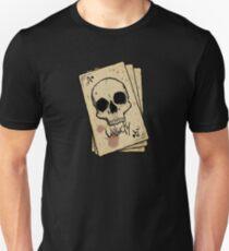 Unlucky Ace Of Spades Skull Card Unisex T-Shirt