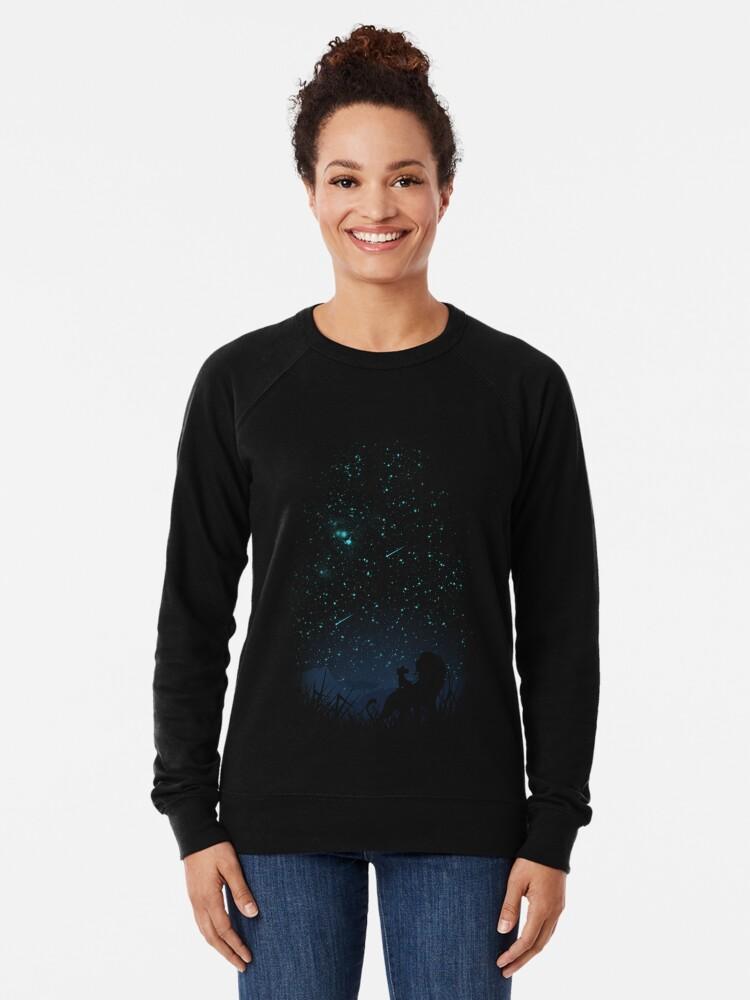 Alternate view of Under The Stars Lightweight Sweatshirt