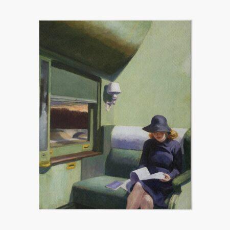 AMERICAN ARTIST. Compartment Car, Edward Hopper. 1938. Art Board Print