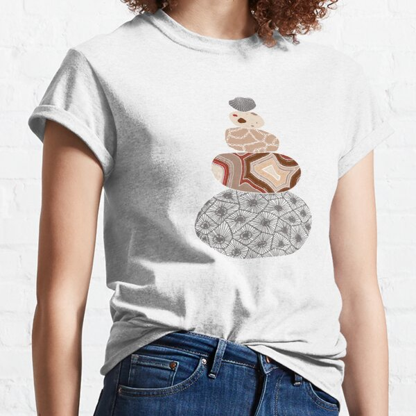 Colored Stack of Great Lakes Rocks Classic T-Shirt