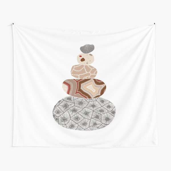 Colored Stack of Great Lakes Rocks Tapestry