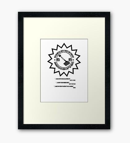 Mechanical Anti-Theft Systems Framed Print