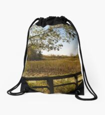Sheldon Marsh Scenic Overlook - Autumn Drawstring Bag