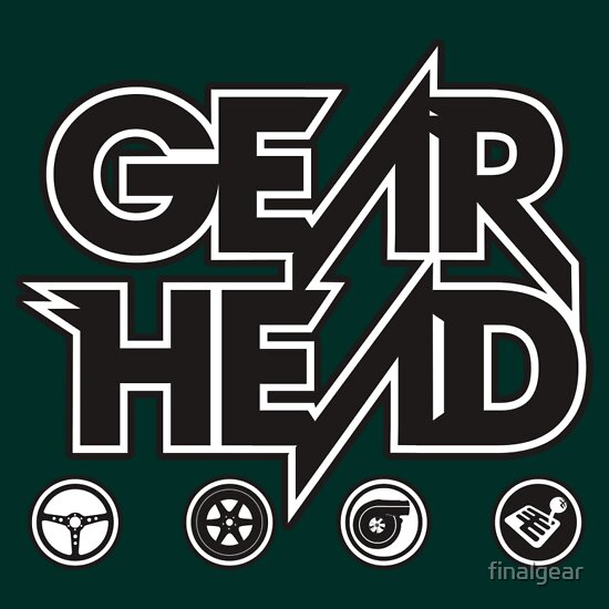 TShirtGifter presents: Gear Head (White Outline)
