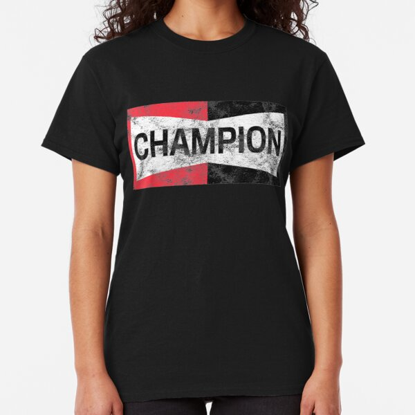 Distressed Champion Motor Sports Retro Spark Plug Gift Classic T-Shirt