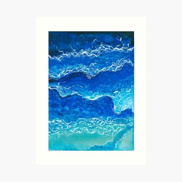 The Sea Waves Art Print