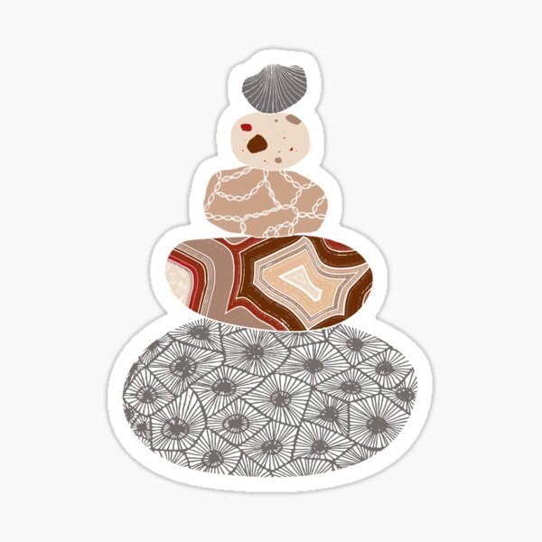 Gray Colored Stack of Great Lakes Rocks Sticker