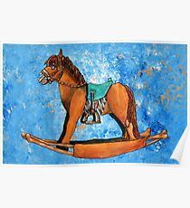 Zombie Rocking Horse Poster
