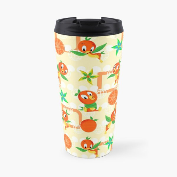 Orange Bird Travel Mug