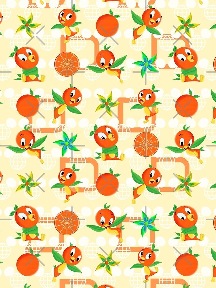 Orangener Vogel von RG-Love