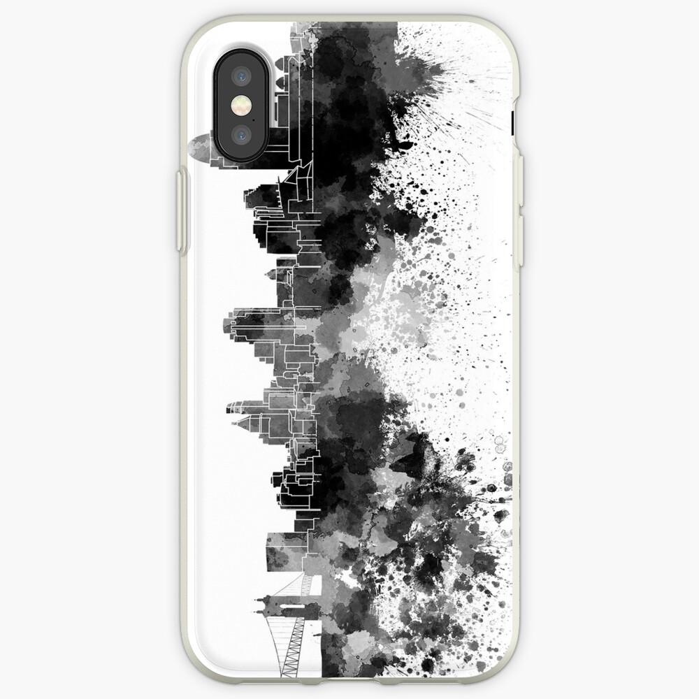 Cincinnati-Skyline im schwarzen Aquarell iPhone-Hülle & Cover
