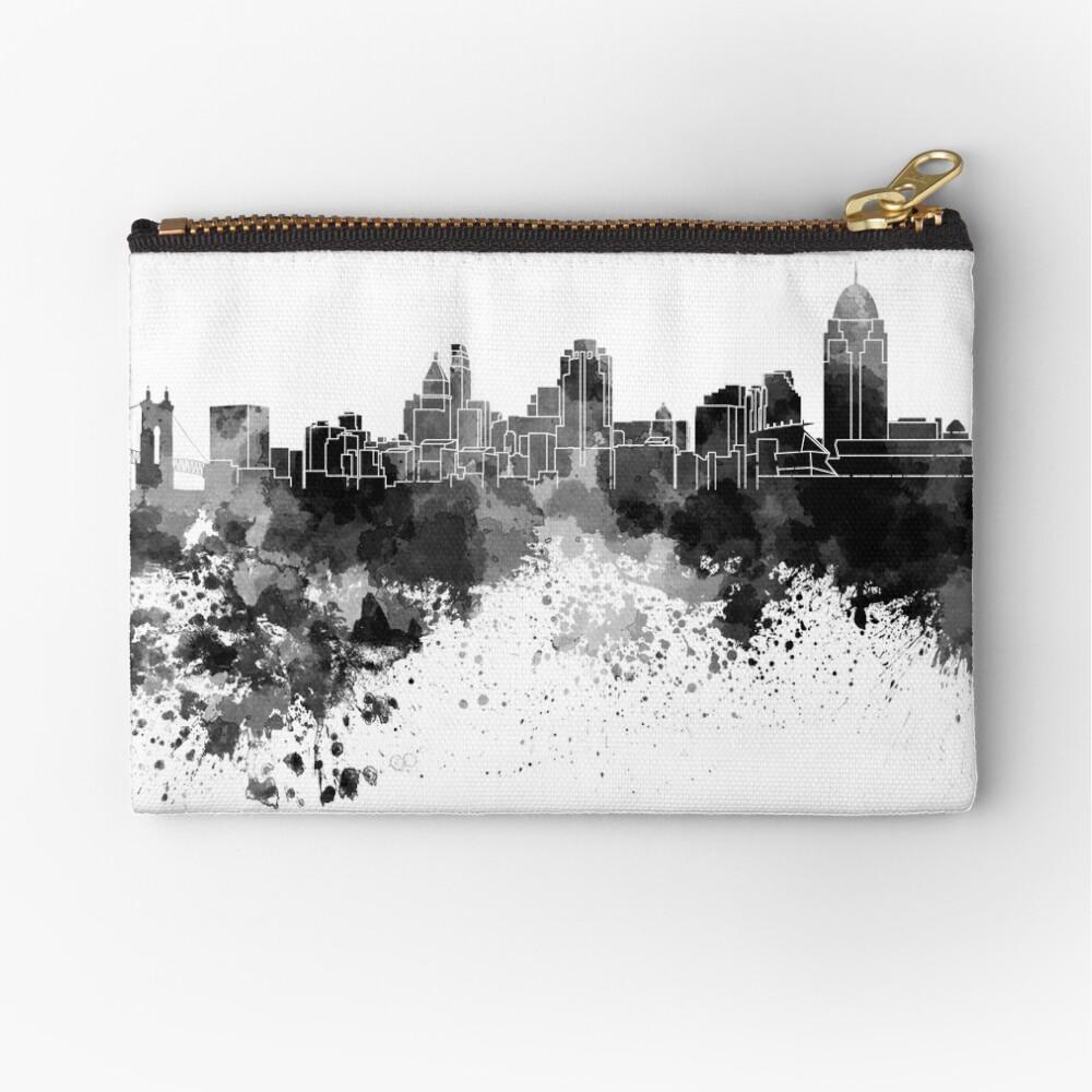 Cincinnati-Skyline im schwarzen Aquarell Täschchen
