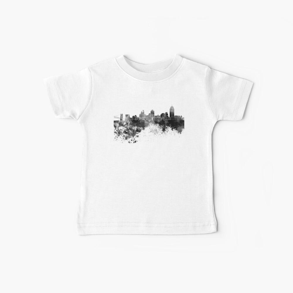 Cincinnati-Skyline im schwarzen Aquarell Baby T-Shirt