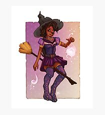 Socks the Witch Photographic Print