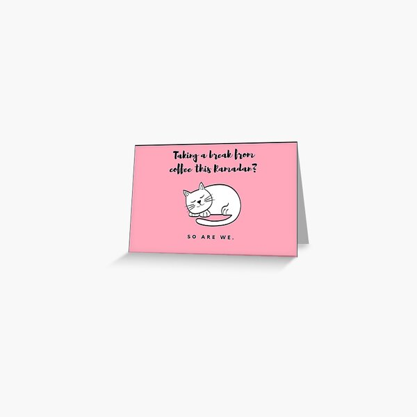 Sleeping Cat Ramadan Greeting Card Greeting Card