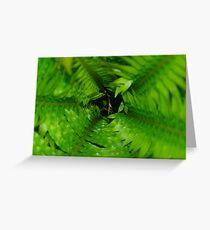 Green Mirage Greeting Card