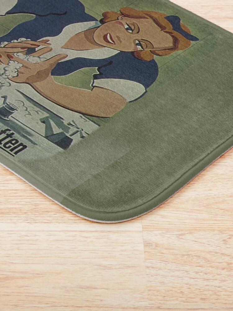 Alternate view of Vintage Patrons Health Wash Your Hands Often, RBSSG Bath Mat