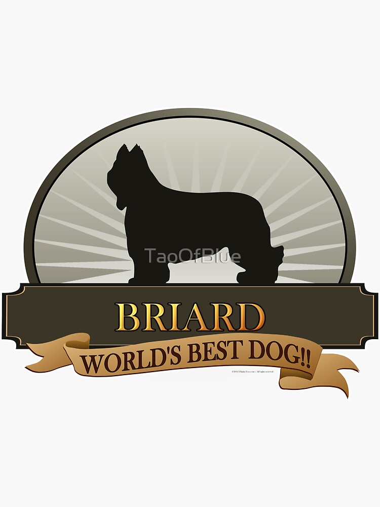 World's Best Dog - Briard by TaoOfBlue