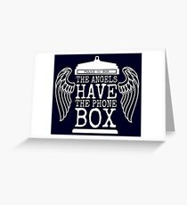 Angels Have The Phone Box Greeting Card
