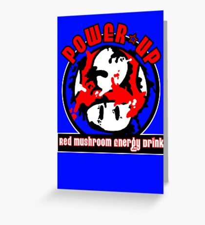 Power-Up Energy Drink Greeting Card