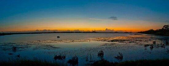 Pre Dawn over the AIMS Salt Pans   by Stephen  Nicholson