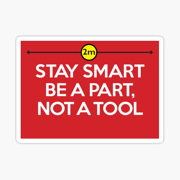 Stay Smart: Social distancing graphic to combat Coronavirus Sticker