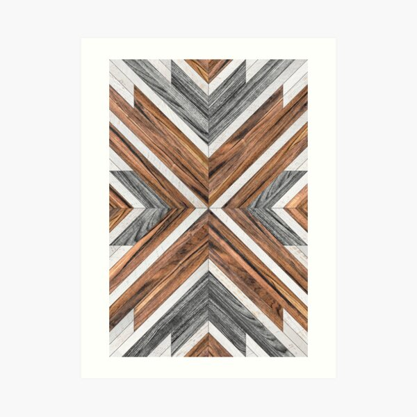 Urban Tribal Pattern No.4 - Wood Art Print