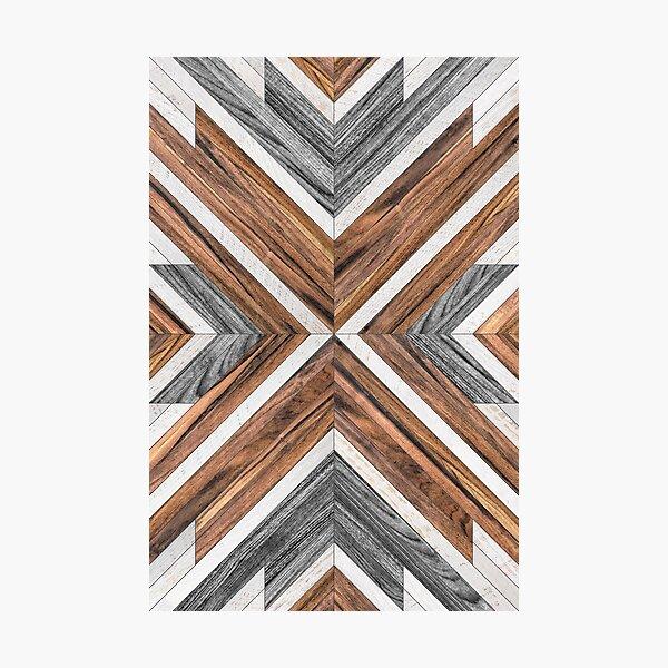 Urban Tribal Pattern No.4 - Wood Photographic Print