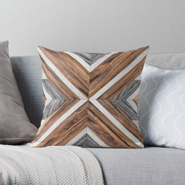 Urban Tribal Pattern No.4 - Wood Throw Pillow